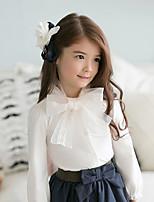 Girls' Spring Autumn Shirts Long Sleeve Lace Collar White Shirts (Cotton)