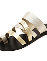 Women's Shoes Flat Heel Slingback Sandals Outdoor Silver/Gold