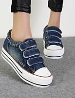 Zapatos de mujer - Tacón Plano - Plataforma / Creepers / Punta Redonda - Sneakers a la Moda - Casual - Vaquero - Azul / Gris / Azul Marino