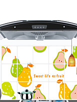 Wall Stickers Wall Decals Style Pear kitchen Decoration Waterproof And Oil PVC Wall Stickers