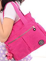 Women's Zipper Closure Grab Handle Waterproof Handbag