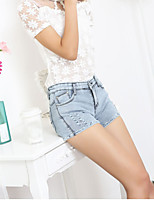 Women's Sexy Bodycon Micro-elastic Short Pant (Denim)