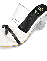 Women's Shoes Synthetic Chunky Heel Open Toe Sandals Casual White/Gold