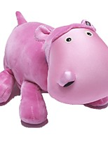 Stuffed Toys Zoobies Plush Pink Hippo 40*20*18cm with blanket 135*87cm