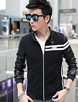 RUILIKE®Men's Casual Plus Sizes Print Long Sleeve Regular Jacket (Cotton)
