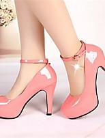 Women's Shoes Stiletto Heel Round Toe Pumps/Heels Dress Black/Pink