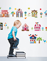 Wall Stickers Wall Decals Style Cartoon House PVC Wall Stickers