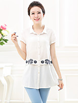 Women's Shirt , Shirt Collar Short Sleeve