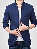 Men's Long Sleeve Jacket , Acrylic Casual/Work/Formal/Sport/Plus Sizes Pure