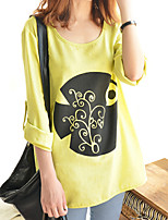 Women's Autumn New Round Long Sleeve Casual Loose T-shirt