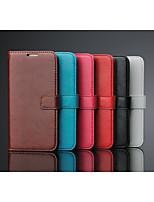Für Samsung Galaxy Hülle mit Halterung Hülle Handyhülle für das ganze Handy Hülle Einheitliche Farbe PU - Leder Samsung S6