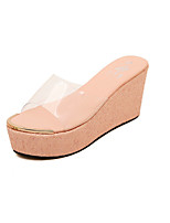 Women's Shoes Synthetic Wedge Heel Wedges Sandals Outdoor Yellow/Green/Pink