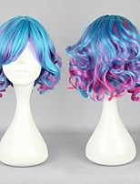 New Fashion 30CM Long Multi -color Beautiful Lolita Wig Anime Wig