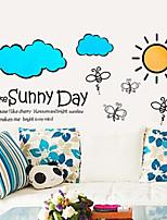 Wall Stickers Wall Decals, Mini Cartoon Bees Cloud Sunny Day PVC Wall Sticker