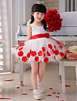 Flower Girl Dress - Satyna/Tiul Bez rękawów - Księżniczka Kolan