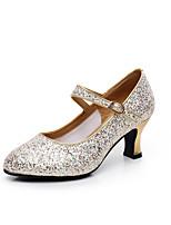 Women's Modern Paillette Heels Outdoor Sequin Heel Silver Gold 2