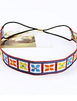 Women Han Edition Folk Embroidery Lucky Grass Grid Headband