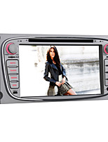 Quad-Core Android4.4 2 Din 7 inch 1024 x 600 Car DVD Player for Ford Focus with Built-in Bluetooth/WIFI/SWC/Subwoofer