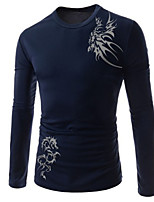 Men's Casual Print Long Sleeve T-Shirts