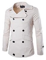 Men's Long Sleeve Jacket , Cotton Casual/Plus Sizes Pure
