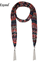 D Exceed Female Retro Style Ethnic Scarf Chiffion Printing Necklace Jewelry Scarves