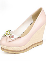 Women's Shoes Synthetic Wedge Heel Heels/Basic Pump Pumps/Heels Office & Career/Dress/Casual Blue/Pink/White