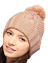 Kenmont Winter Unisex Wool Acylic Knit Handmade Cap Turn-up Fashion Beanie 1368