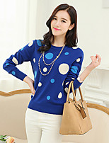 Women's Blue/Black/Yellow Pullover , Casual Long Sleeve