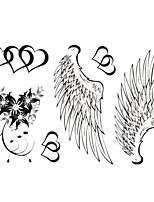 Sexy Pure Angel Wings Tattoo Stickers Temporary Tattoos(1 Pc)