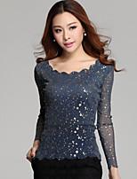 Women's Blue/Black Shirt Long Sleeve