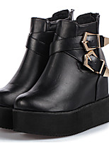 Women's Shoes  Chunky Heel Combat Boots/Round Toe Boots Casual Black