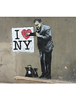 VISUAL STAR® I lOVE YOU sick Bansky Canvas Wall Hanging Art for Wall