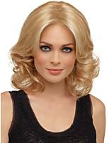 natürliche synthetische Perücken Wärmefreundliche Faser golden blonde Perücke Höhe