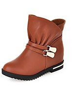 Women's Shoes  Wedge Heel Fashion Boots/Round Toe Boots Office & Career/Dress/Casual Black/Brown/Beige