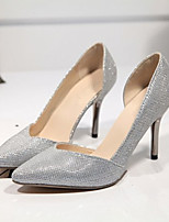 Women's Shoes Synthetic Stiletto Heel Heels Pumps/Heels Dress/Casual Black/Silver/Gold