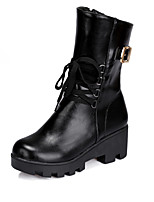 Women's Shoes  Wedge Heel Combat Boots/Round Toe Boots Office & Career/Casual Black/Brown/White