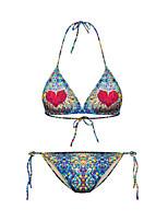 Bikinis Aux femmes Fleur Soutien-gorge Sans Rembourrage Nylon