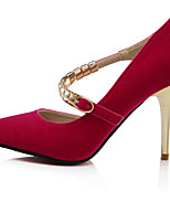 Women's Shoes Synthetic Stiletto Heel Heels Pumps/Heels Casual Black/Red