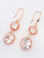 Women's European Style Elegant Fashion Drop Earrings With Cubic Zirconia