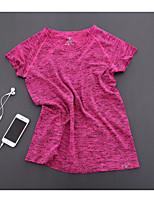 Women's T-shirt , Round Neck Short Sleeve