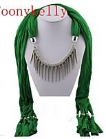 Toonykelly®Women Vintage Look Green Cotton Alloy Neckerchief (1PC)