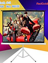 redgoldleaf 84 polegadas tela 4: 3 projetor portátil com suporte