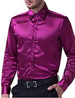 Men's Casual/Work/Formal/Plus Sizes Pure Long Sleeve Regular Shirt (Cotton Blend/Rayon)