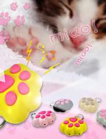 LED Cat Paw Shaped Keychain Animal Flashlight Sound Light Key Ring (Random Color)