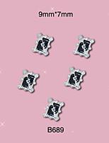 10 - Gioielli per unghie/Altre decorazioni - Cartoni animati/Frutta/Fiore/Astratto/Adorabile/Punk/Matrimonio - Dito/Dito del piede/Altro-