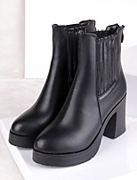 Women's Shoes  Chunky Heel Combat Boots Boots Casual Black