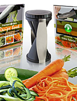 Grater Vegetable Julienne Spiral Slicer, Easy Spiral Vegetable & Fruit Slicer Twister World Cuisine Vegetable Cutter