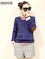 Women's Casual/Work Stretchy Medium Long Sleeve Pullover (Knitwear) SF7B62
