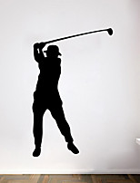 Wall Stickers Wall Decals Style Golf Sports Characters PVC Wall Stickers
