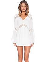 Women's Sexy Casual Cute Micro Elastic Long Sleeve Regular Shirt (Cotton)